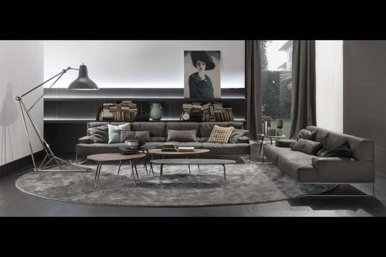 sofas cuero precioso apartamento salon masculino ideas
