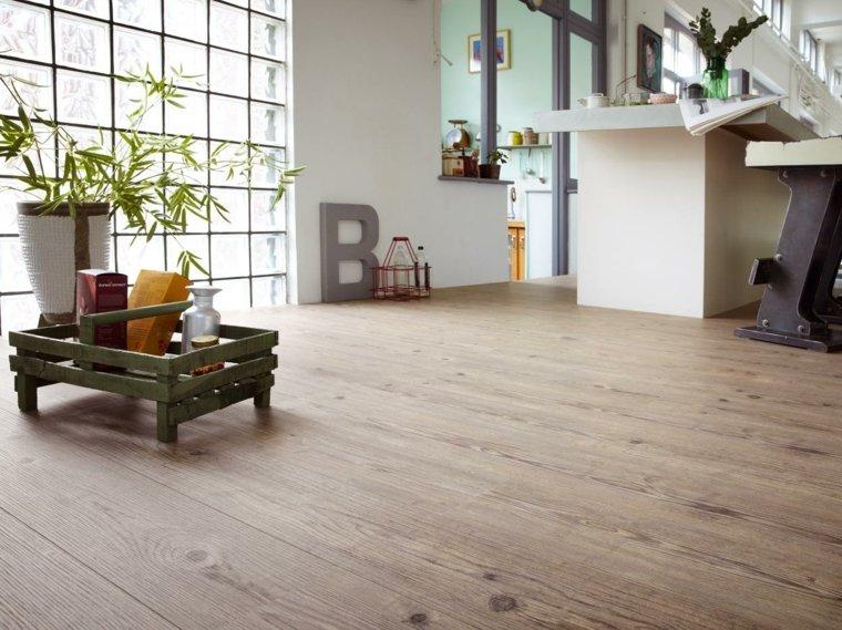 suelo laminado imitando madera comedor ideas