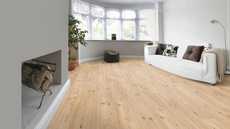 suelos laminado salon chimenea madera ideas