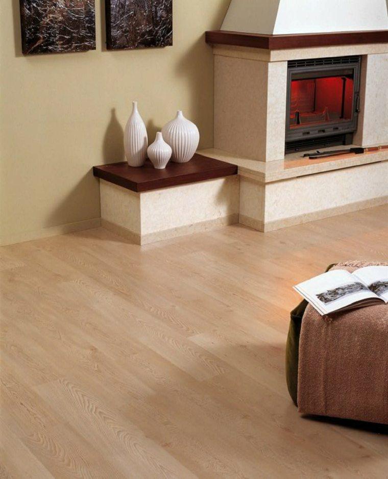 suelos laminado salon chimenea opciones ideas