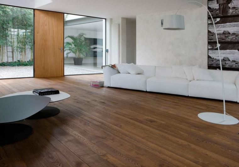 suelos laminado salon sofa blanca ideas