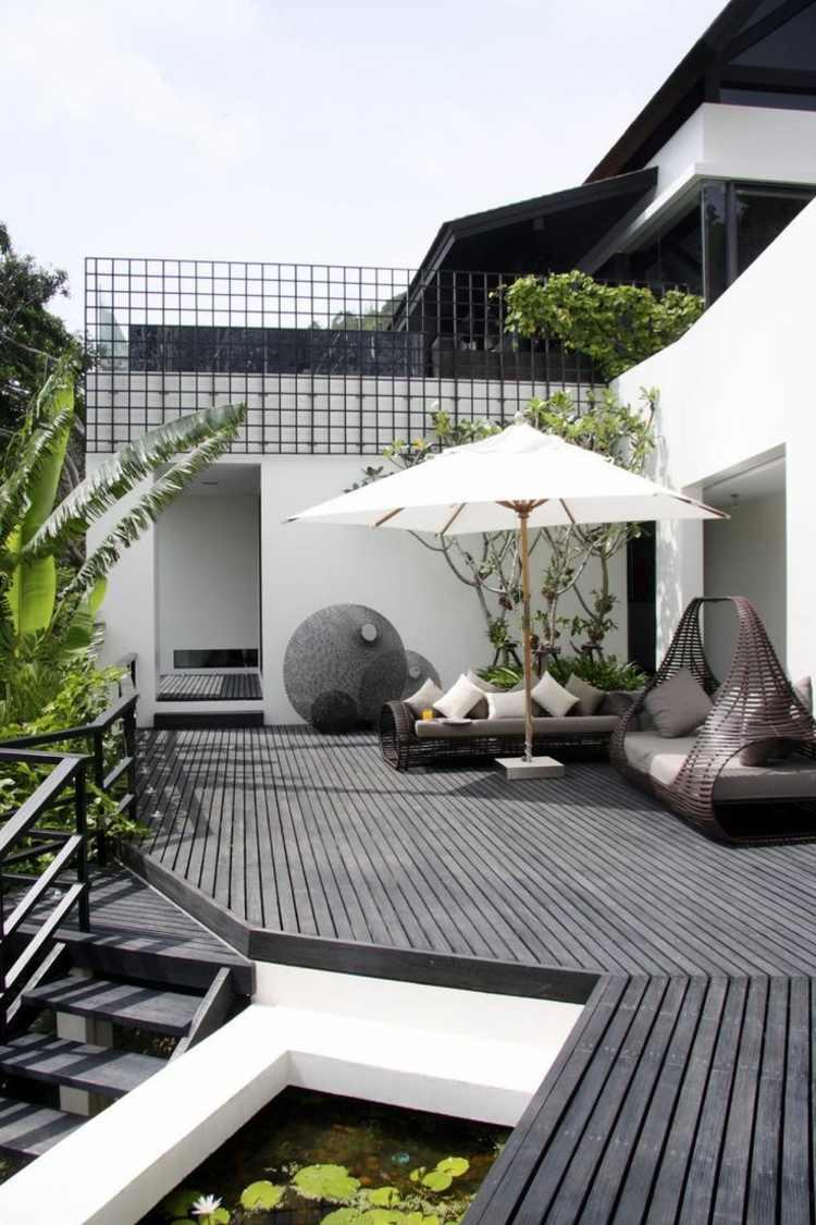 Jardines peque os ideas modernas 50 dise os - Suelos para jardines pequenos ...
