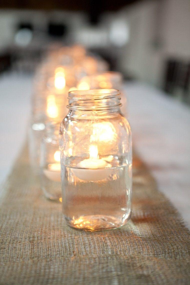 tarros vidrio velas flotantes deco