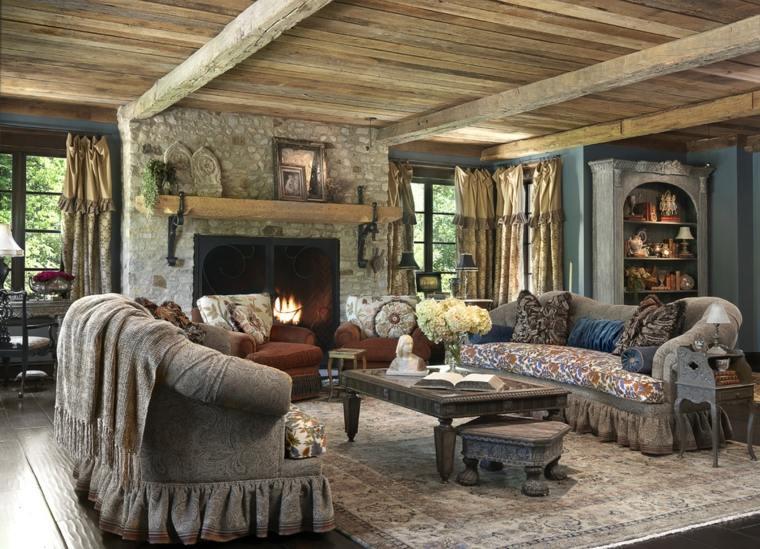techo madera natural estilo rustico