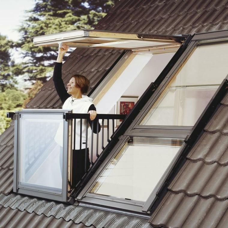 tejas balcon moderno bonito moderno ideas