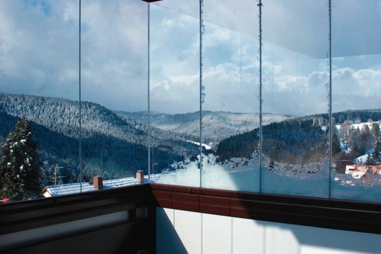 terraza acristalada vista nevada deco
