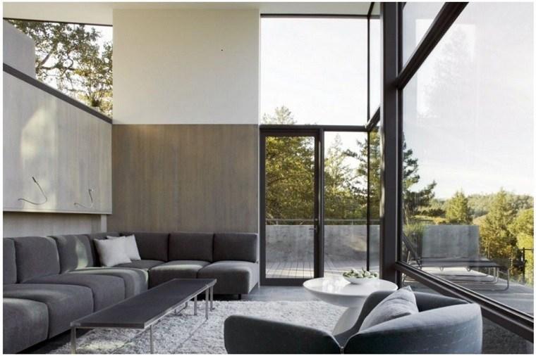 terraza diseño moderno color gris