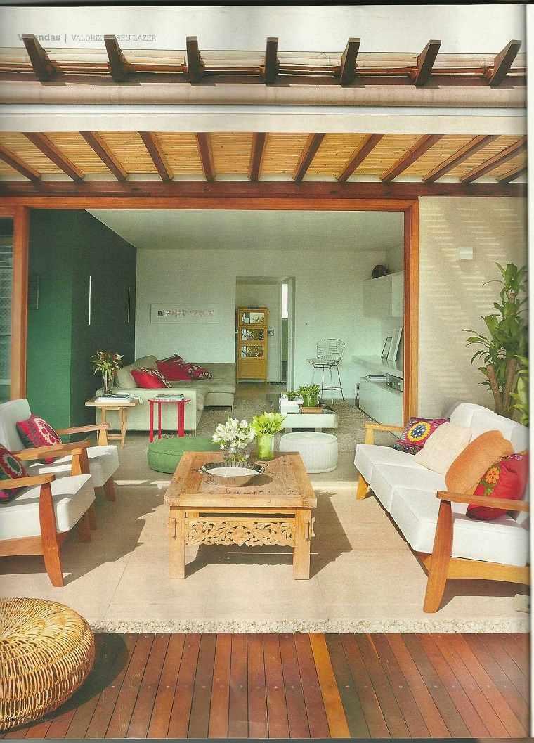 terraza cubierta madera diseño moderno
