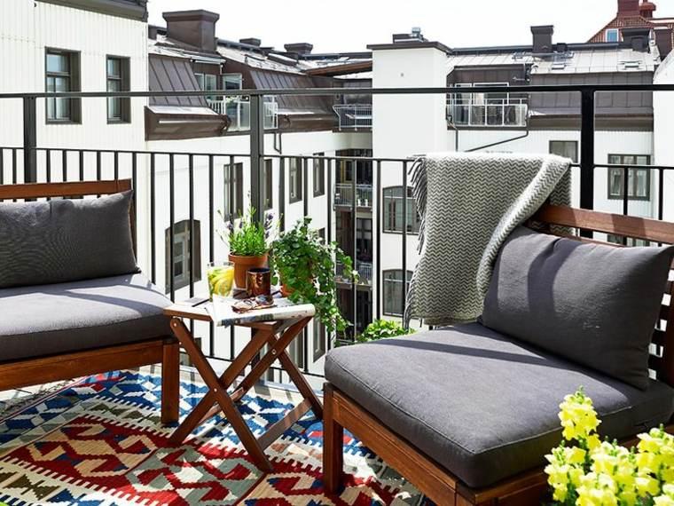 terraza pequeña decorar muebles