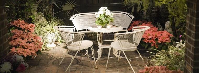 diseño terraza pequeña decoración romántica