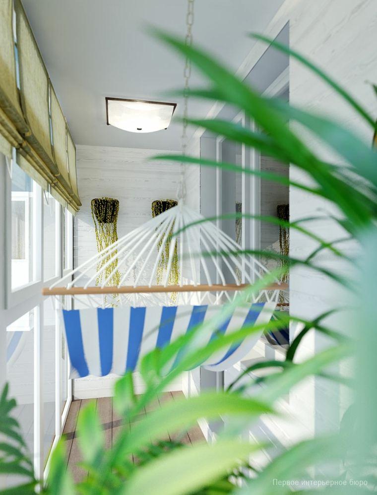ideas para decorar terraza pequeña decorada hamaca