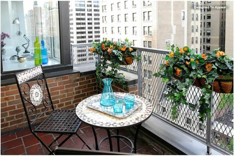 terraza pequeña original decoración