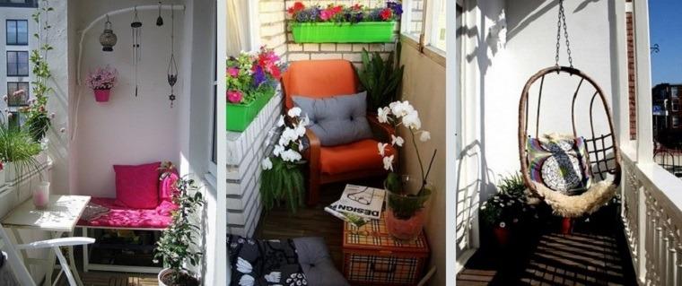 terrazas decoraciones modernas balcones pequeños