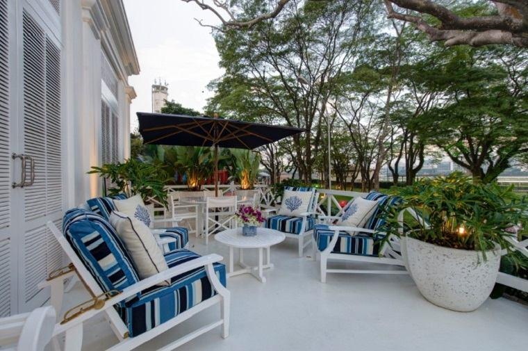 terrazas modernas muebles acolchados