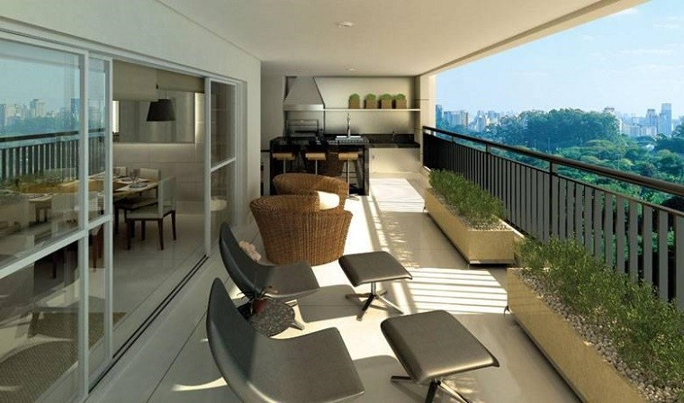 diseño decoración terrazas balcones