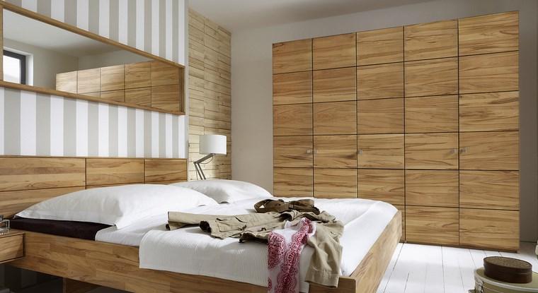 Tipos madera perfectos para muebles 66 armarios modernos - Dormitorio de madera ...