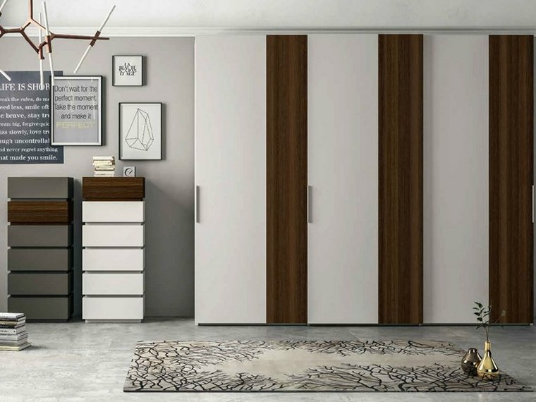 Tipos madera perfectos para muebles 66 armarios modernos - Armario madera blanco ...
