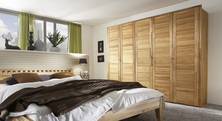 tipos madera armarios dormitorio cinco compartimentos ideas