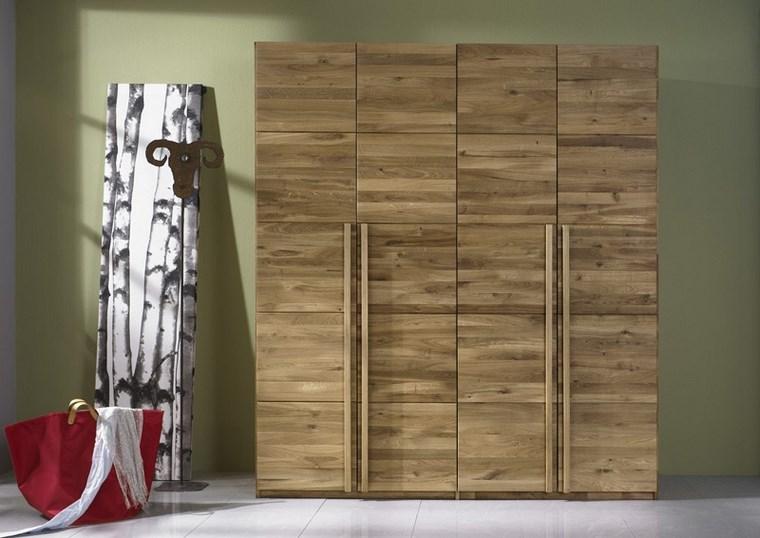tipos madera armarios dormitorio cuadrados ideas