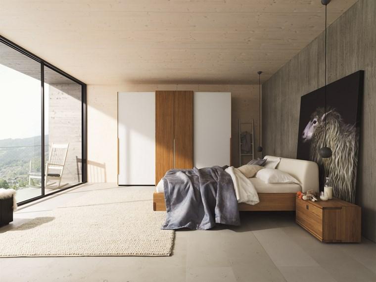 tipos madera armarios dormitorio diseno moderno ideas