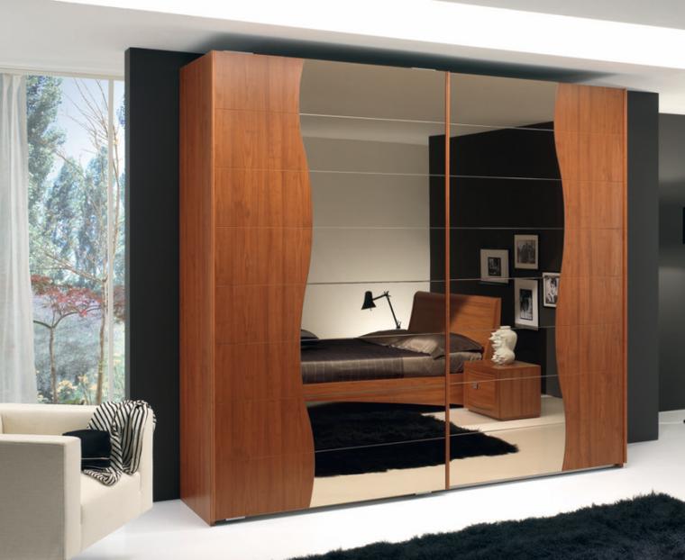 Tipos madera perfectos para muebles 66 armarios modernos for Armario con espejo