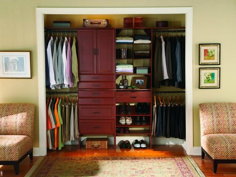 madera armarios dormitorio hombre rojo ideas