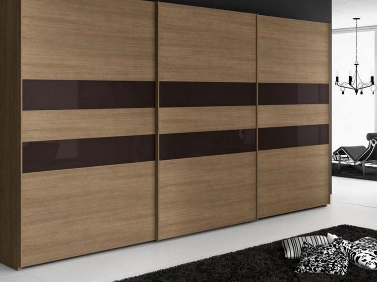 madera armarios dormitorio laminas marron oscuro ideas