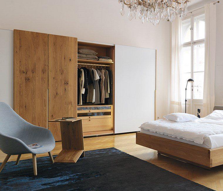 madera armarios dormitorio lujoso moderno udeas