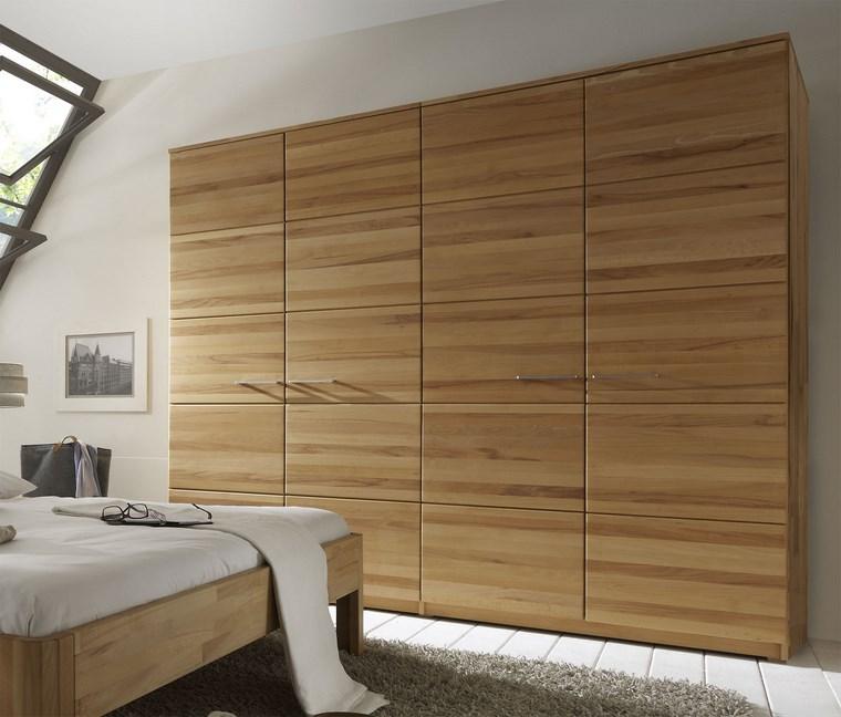 madera armarios dormitorio masivo moderno ideas