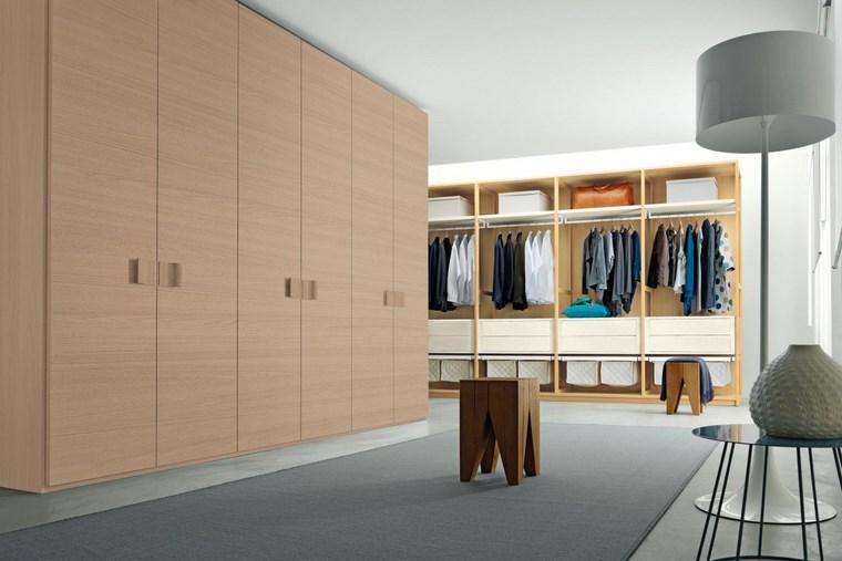 madera armarios dormitorio moderno grande ideas