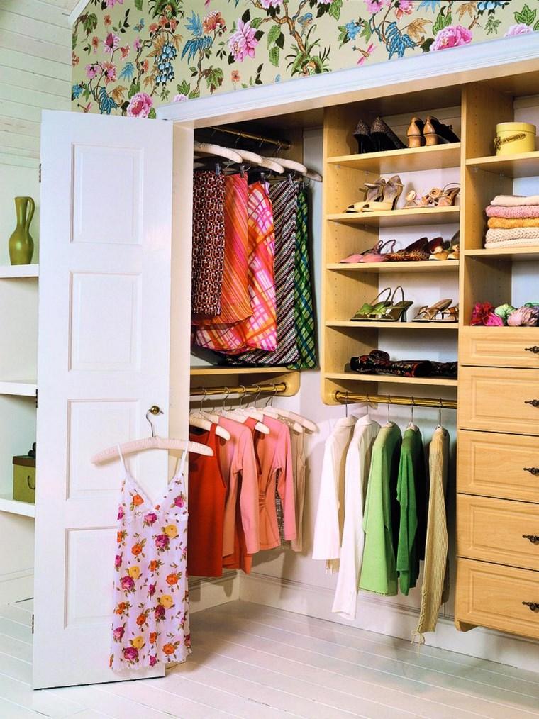madera armarios dormitorio mujer blanco ideas