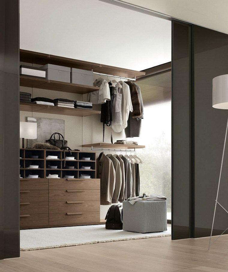 madera armarios dormitorio opciones abiertas ideas