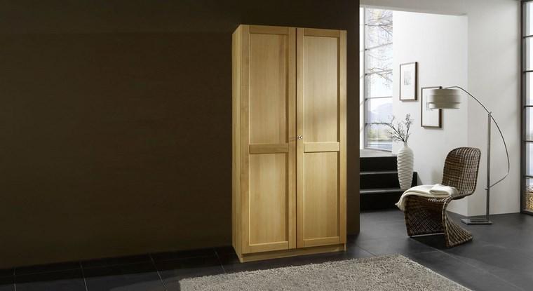 madera armarios dormitorio pequeno dos ideas