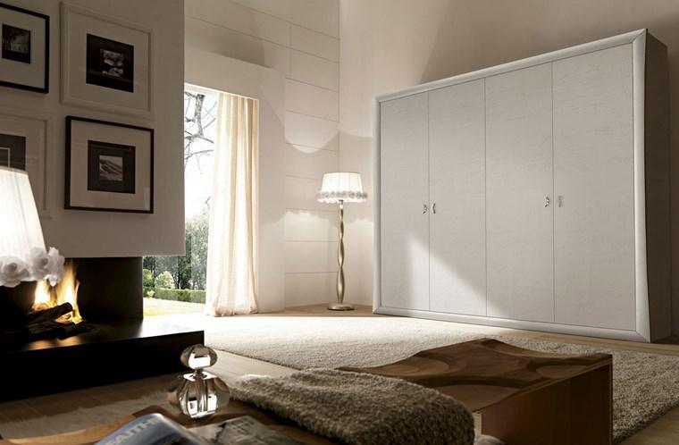 madera armarios dormitorio pintado blanco ideas