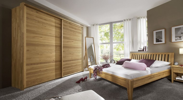 madera armarios-dormitorio puertas corederas diseno simple ideas