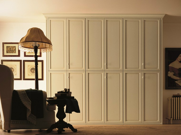 madera armarios dormitorio suelo techo blanco ideas