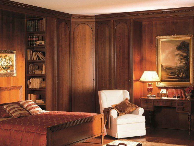 madera armarios dormitorio suelo techo ideas