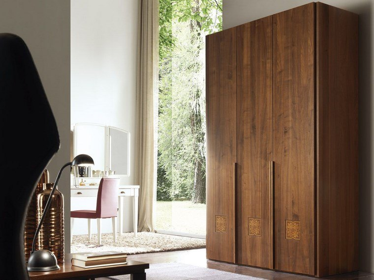 madera armarios dormitorio tres espacios ideas