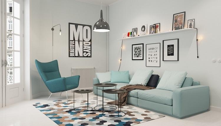 Colores para pintar un salon en 50 espacios diferentes - Colores para un salon pequeno ...