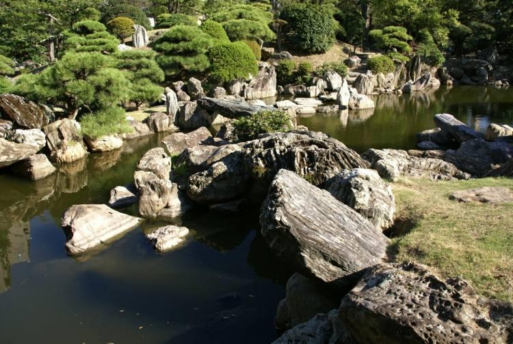 estilo japones rios puentes senderos