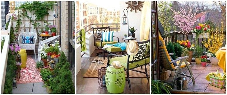 tres diseños decoración terrazas