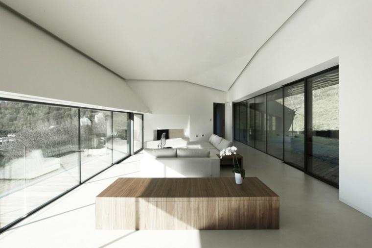 mesa madera salon moderno precioso
