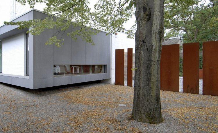 vallas jardín estilo moderno