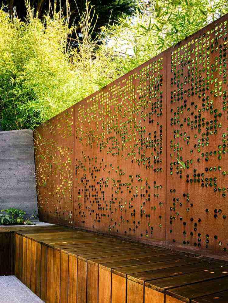 vallas acero Corten jardín