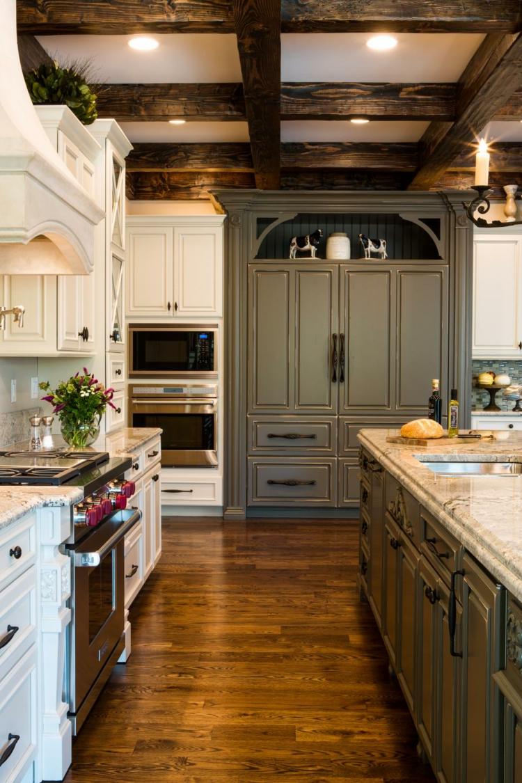 variantes cocinas maderas diseño plantas