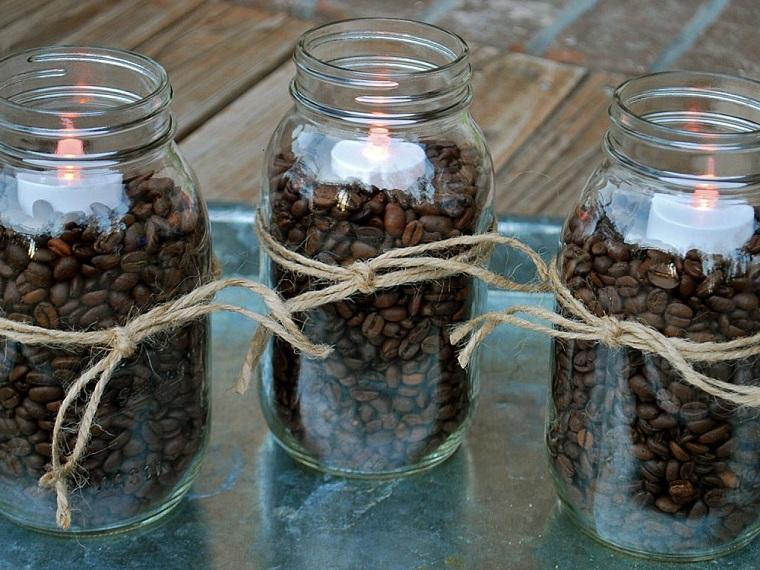 velas flotantes botes granos cafe