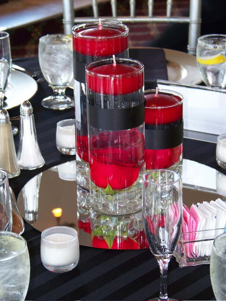 velas flotantes orgij ales color rojo