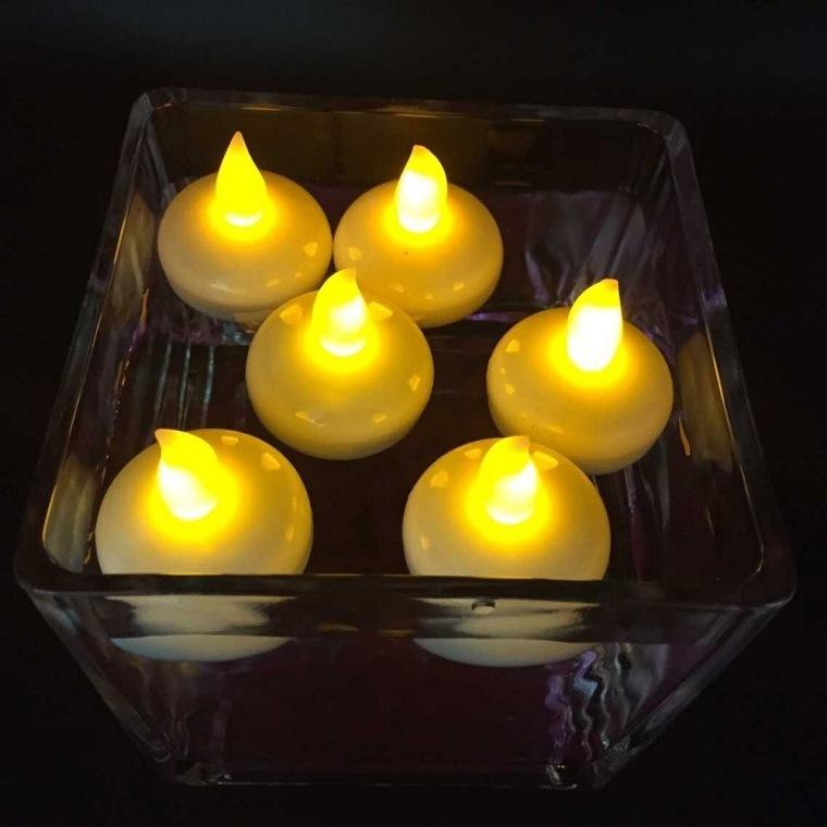 velas flotantes falsas llamas plástico