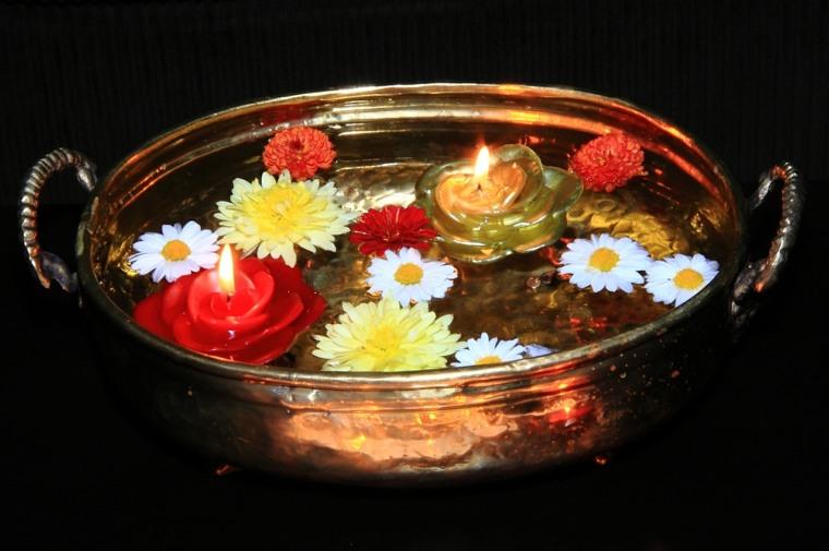 velas decorativas forma rosa margaritas