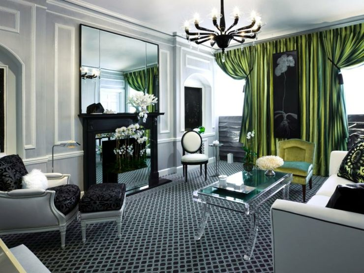 verdes contrastes diseños variantes muebles mesa